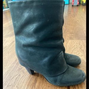 Women's Trouve Style Leather Fold Over Booties